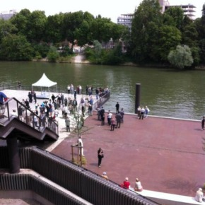 Inauguration de la promenade des berges de Seine àCourbevoie