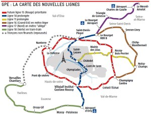 Carte gd paris