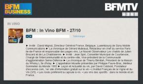 Présentation du vin de Courbevoie dans l'émission » In vino BFM»