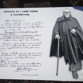 Abbé Pierre : «Merci Courbevoie»