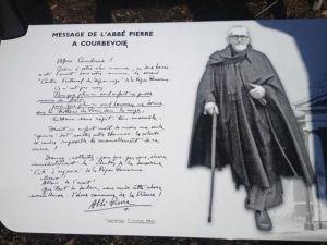 Plaque Abbé Pierre