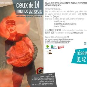 Lectures de Ceux de 14 par Olivier Lacut à partir du 11septembre