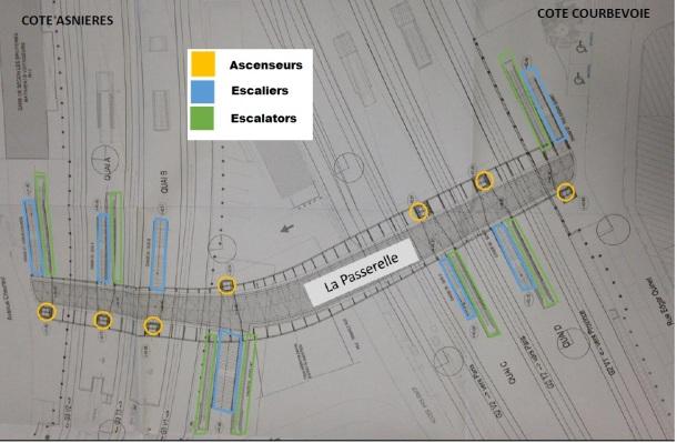 Passerelle PMR Gare de Bécon