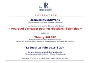 Réunion publique sur les régionales àCourbevoie