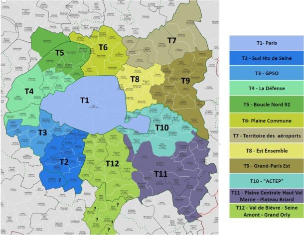 La métropole regroupera Paris, les 123 communes de petite couronne et deux villes de grande couronn