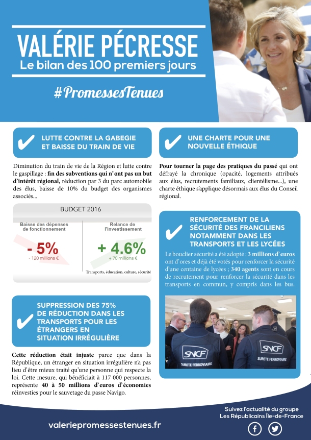 Tract 100 jours - Promesses Tenues - recto