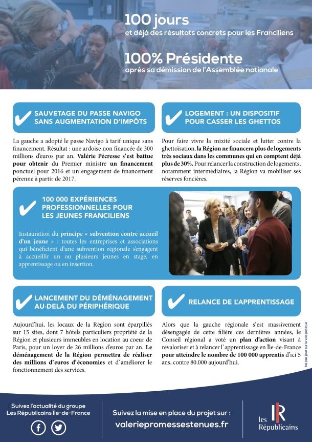 Tract 100 jours - Promesses Tenues - verso